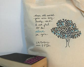lovely world // anne of green gables tote // canvas tote bag