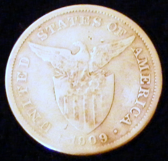 1909 ONE PESO, FILIPINAS . . Great Investment . .