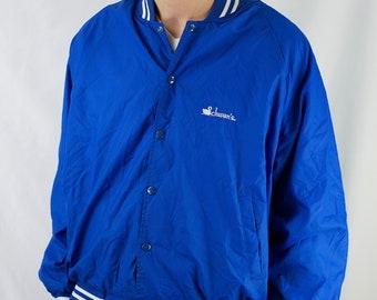 Vintage 90s Schwan's Company Nylon Bomber Jacket Size XL