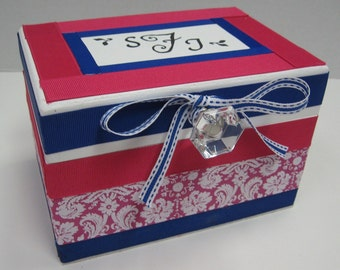 Fushia Damask Recipe Box-6