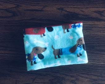 Reversible Dog Print Child's Fleece Neckwarmer
