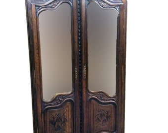 Lovely Antique French Bridal Armoire, Oak, 1920's #8518