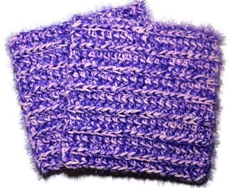 Sparkle Purple and Pink Dish Scrubber Set - 2 piece hand crocheted dishcloth set - Square dishcloths - Purple scrubby - Handmade dish cloths