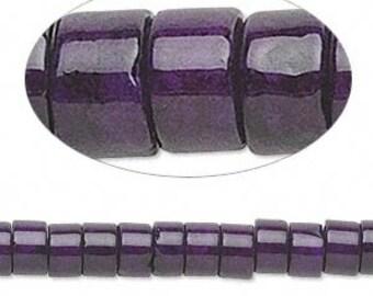 100 Riverstone 6x4mm Violet Rondelle Gemstone Beads 16 Inches Strand
