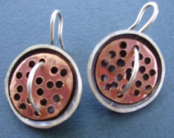 silver domes with copper