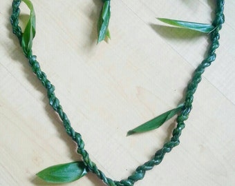 Father's day gift-flowers-Ti leaf lei-hawaiian lei-flower lei-beach wedding lei-graduation lei-birthday gift-mothers day gift