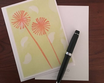 Set of 5 Cards created from Monotype prints