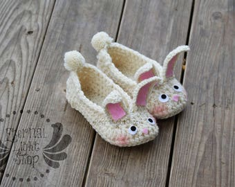 ANY SIZES Easter Bunny Rabbit Slippers