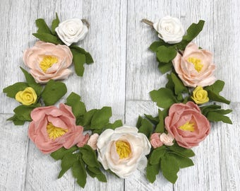 Chedder peony flower Garland    Baby chic    Floral Garland    Garland    Flower Garland    Baby Room Decor