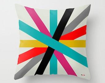 Decorative pillows - Colorful Pillow cover - Stripes pillow - Modern pillow - Designer pillow - Contemporary pillow