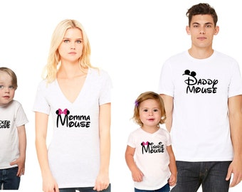 Matching Family Disney Shirts, Mother Daughter Shirts, Minnie Mouse Shirt, Mommy and Me Matching Shirts, Momma Mouse