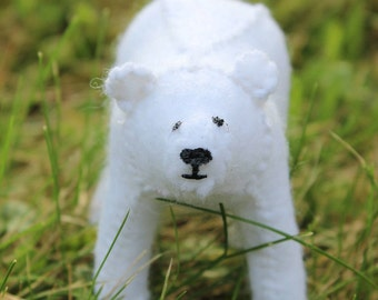Felt Polar Bear Cub