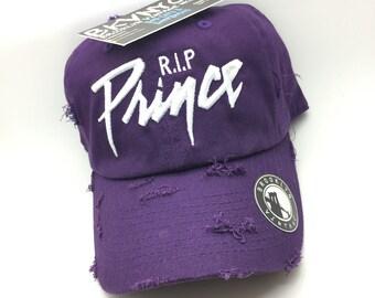"Purple Distressed ""The Artist"" Dad Cap Hat"