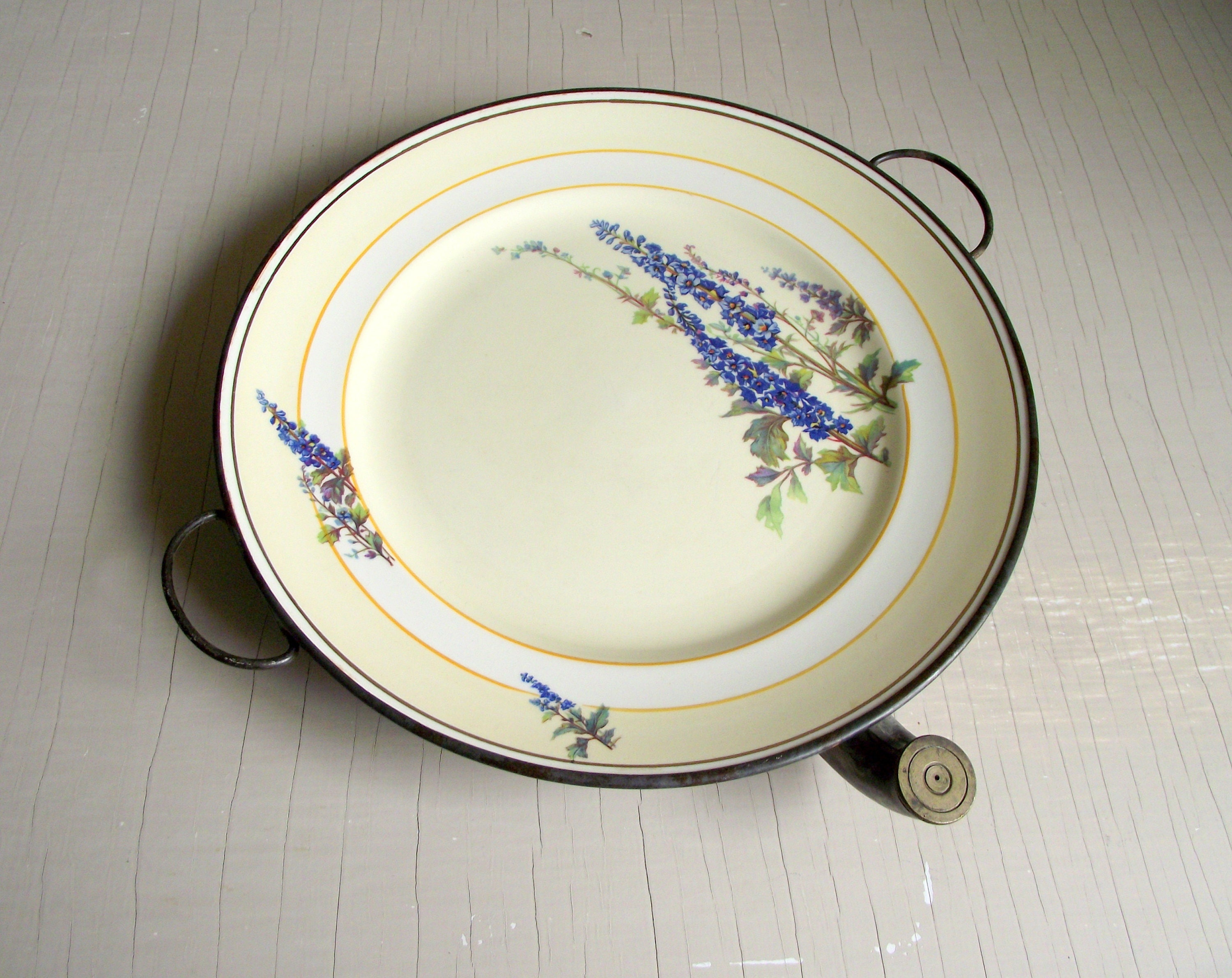 Antique Warming Plate Hot Water Plate Victorian