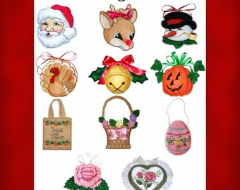 Holiday Treat Bag Collection- Machine Embroidery Designs