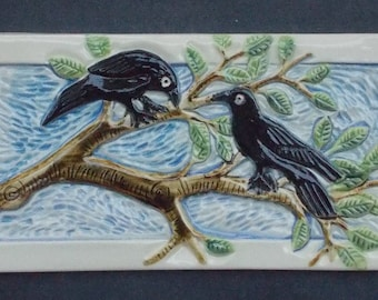 Raven, Crow Subway Tile