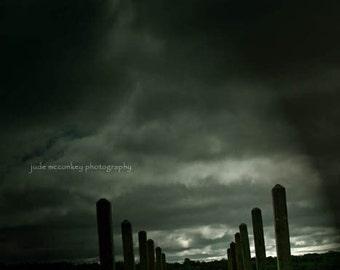 dark art goth dock water storm clouds fine art photographyhome decor