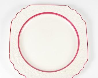 "Vintage George Jones & Sons  Cream and Pink 13 1/2"" Plate Rhapsody"