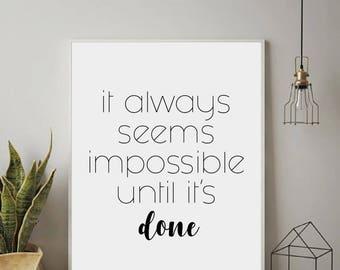 Inspirational Wall Art, Motivational Wall Decor, Inspirational Quotes, Motivational Poster, Typography Motivational Quotes, Modern Wall Art