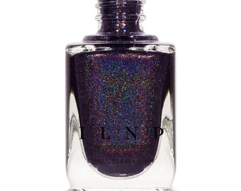 Homecoming - Deep Eggplant Purple, Gold Holographic Nail Polish