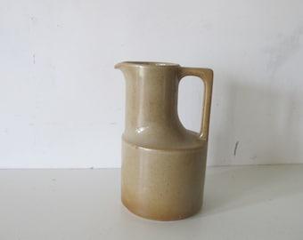 vintage French mid century BRENNE Pottery stoneware pitcher vase