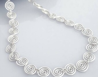 Celtic Silver Spiral Necklace silver wire jewelry silver necklace spiral celtic necklace spiral necklace Dr Alice Roberts necklace jewellery