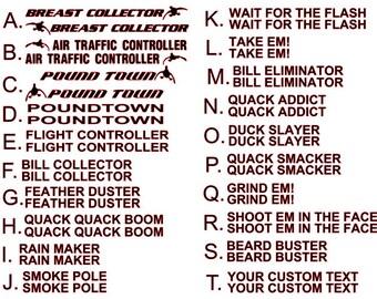 Duck Commander Etsy - Custom shotgun barrel stickers