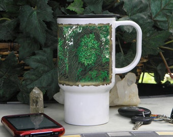 Polymer Travel Mug Greenman Art
