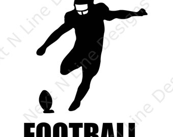 Football, Kicker, Sport, Team, America, Window Sticker, Car Decal, Vehicle Decal, Car Window Decal, Home Decor, Vinyl Decal, Decal