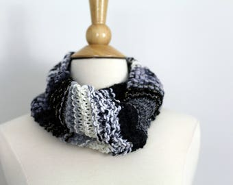 Black, White and Gray Cowl