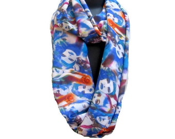 Madonna face print scarf/ Infinity scarf/ loop scarf/ circle scarf/ tube scarf /  figure print scarf / chiffon scarf/   gift ideas.
