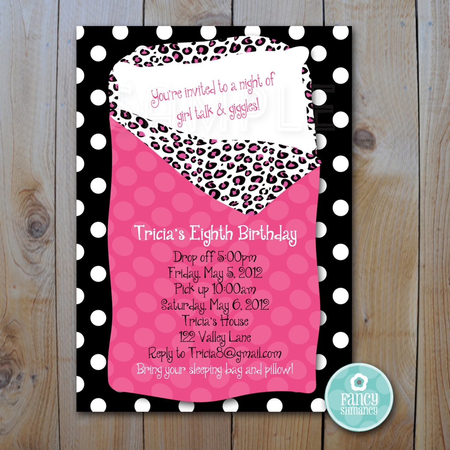 slumber party invitations make your own - Picture Ideas References