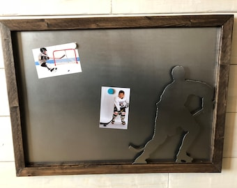 Hockey Player Magnet Memory Board