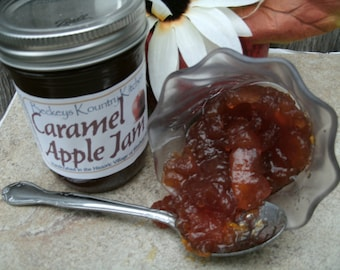 Caramel Apple Jam, Homemade fruit preserves Handcrafted, Deliciously Sweet, jelly and jam