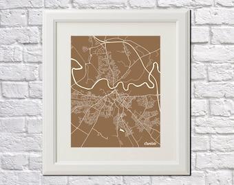 Carlisle Street Map Print Map of Carlisle City Street Map England Poster Wall Art 7093P