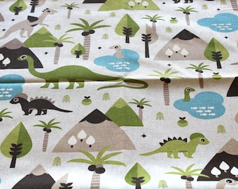 Fabric upholstery dinosaurs 70 x 50 cm