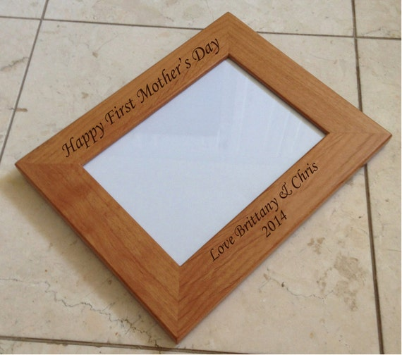 5x7 Personalized Frame Laser Engraved Wood Picture Frame