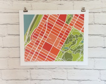 Upper West Side New York City Map Print