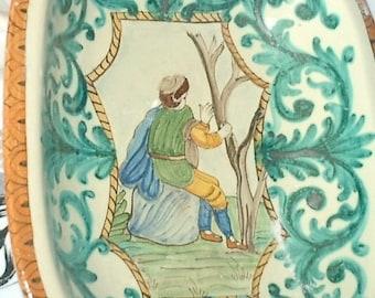 Hand Painted ceramic Centerpiece