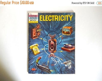 Sale - Mid Century c. 1960 Electricity How and Why Soft Cover Book with Illustrations - 48 pages