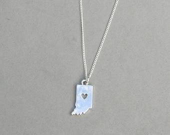 I Heart Indiana necklace
