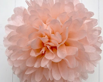 Light Peach Tissue Pom .. Birthday / Wedding Decoration