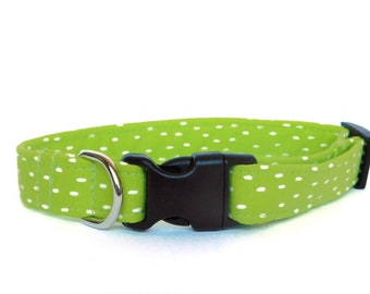 Dog Collar/ Neon Dog Collar/ Green Dog Collar/ Lime Green Dog Collar