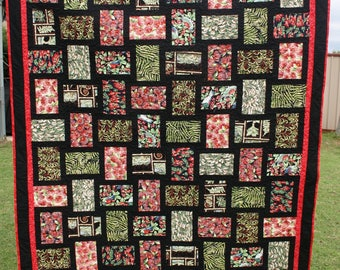 Handmade - New Zealand Kiwiana Fabric - 100% Cotton - Large size Quilt