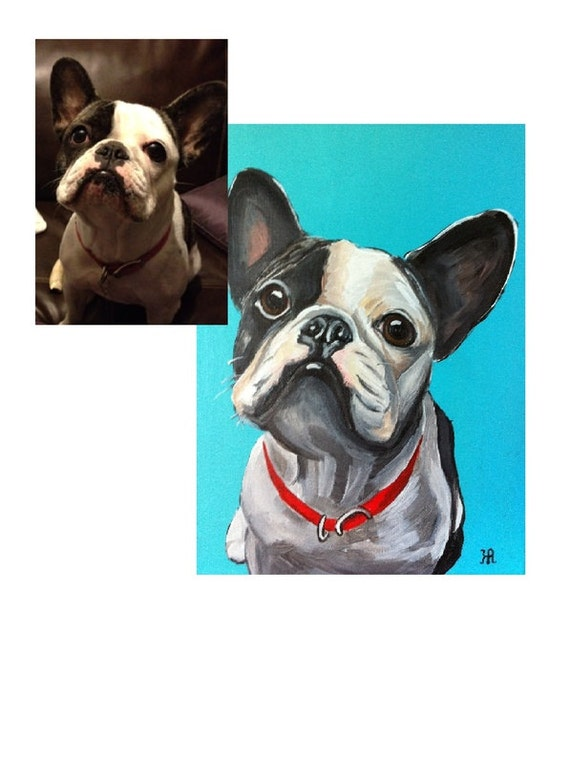 Custom Pet Portrait, Pet Painting, Dog Portrait, custom painting, Dog lover painting, dog painting, cat painting, gifts for her, dog lover,
