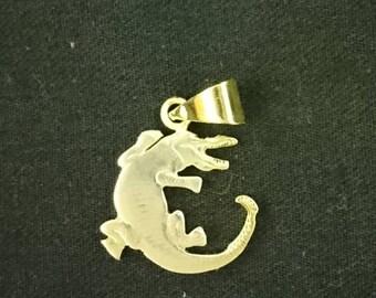 1 Dalasi  Gambia 1971 hand cut  coin jewelry