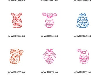 Funny-Easter-Rabbits ( 10 Machine Embroidery Designs from ATW )