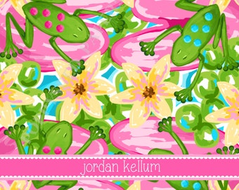 Lilly Pulitzer personalized folded note cards, Lilly Pulitzer stationery, preppy