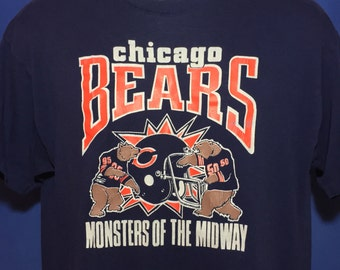 Vintage 1980s Chicago Bears Monsters of the midway t shirt *M