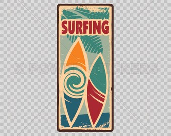 Stickers Decal Surfing Surf Sign Atv Waterproof Racing 11776